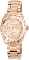 MICHAEL Michael Kors 33mm Mini Blair Glitz Chronograph Bracelet Watch, Rose Gold