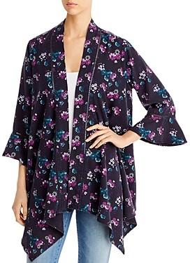 BILLY T Floral Print Kimono Jacket