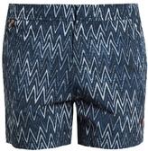 Missoni Striped chevron-print swim shorts