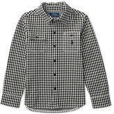 Ralph Lauren Cotton Jacquard Houndstooth Shirt, Size 2-7