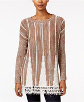 Style&Co. Style & Co. Striped Fringe-Hem Sweater, Only at Macy's