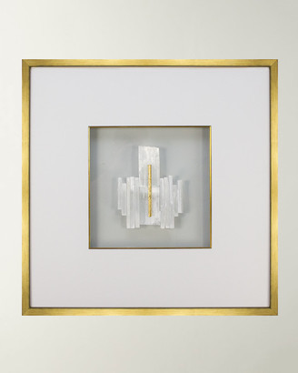 Rob-ert WJC Design Robert Selenite Crystal & Gold Leaf Wall Art
