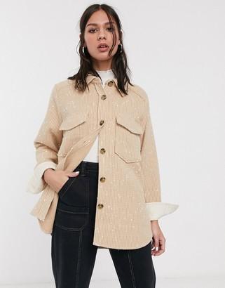 Levete Room boucle jacket in beige