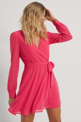 NA-KD Front Wrap Chiffon Dress