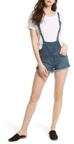 Free People Women's Strappy Denim Short Overalls