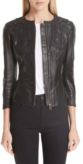 Versace Fitted Leather Jacket