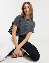 Topshop boxy t-shirt in charcoal
