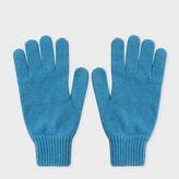 Paul Smith Men's Petrol Cashmere Gloves