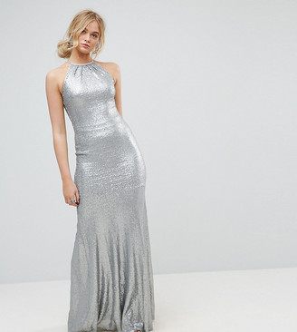 TFNC Tall Allover Sequin Maxi Dress With Strappy Back
