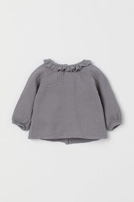 H&M Cotton Blouse - Gray