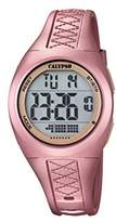 Calypso Unisex Digital Watch with LCD Dial Digital Display and Pink Plastic Strap K5668/4