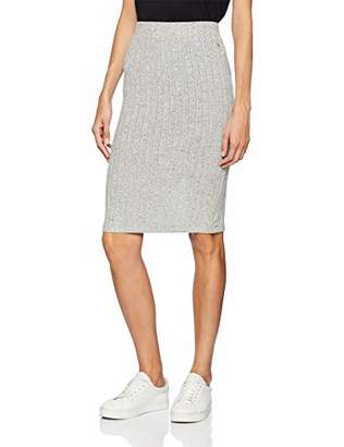 Tom Tailor Women's's Tube Rock Mit Modischer Rib Optik Und Midi Länge Skirt, (Light Silver Grey Mé 10367), Medium