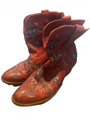 Maegit Brandt Red Leather Boots