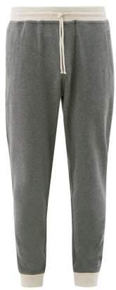 Brunello Cucinelli Contrast-cuff Cotton-blend Track Pants - Mens - Charcoal
