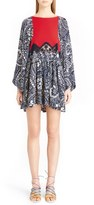 Chloé Daisy Chain Print Lace Inset Dress