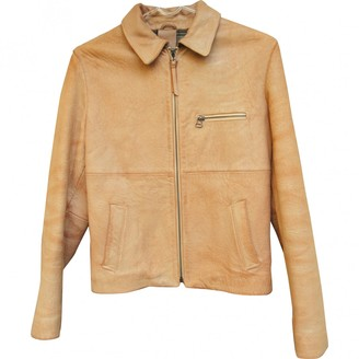 Dolce & Gabbana Camel Leather Leather jackets