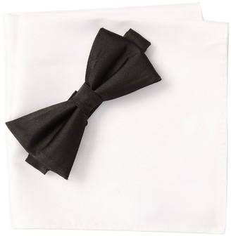 Nordstrom Rack Solid Satin Combo Bow-Tie & Pocket Square Set