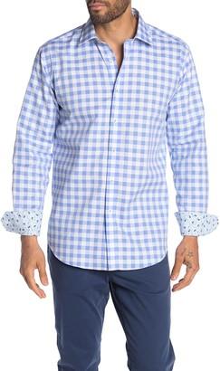 Bugatchi Gingham Check Shaped Fit Shirt