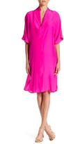 Julian Chang Dolman Silk Dress