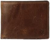 Frye Logan Slim ID Billfold (Cognac Antique Pull-Up) Bill-fold Wallet
