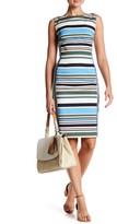 Lands' End Canvas Striped Sheath Dress