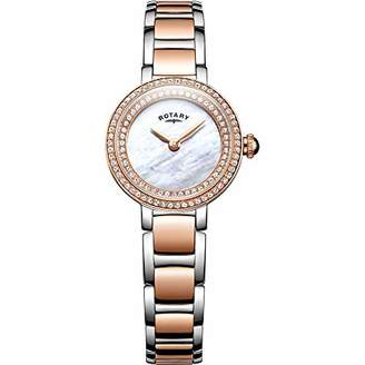 Rotary Womens Analogue Classic Quartz Watch with Stainless Steel Strap LB05086/41