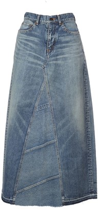 Saint Laurent Denim Long Skirt