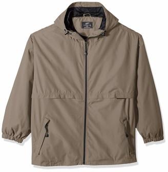 RETOV Men's Microfiber Hooded Zip-Front Jacket