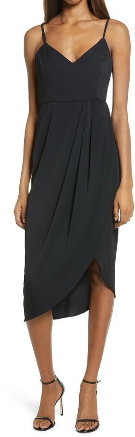 Lulus Reinette V-Neck Midi Dress