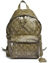 Moschino Trompe L'Oeil Print Backpack - Grey