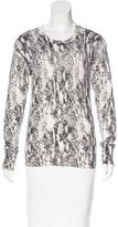 Equipment Cashmere-Blend Snakeskin Print Sweater