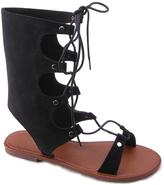 Black Lace-Up Sandal