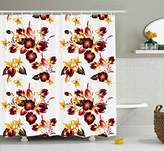 Flowers Shower Curtain by Ambesonne
