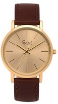 Speidel Sunburst Watch, Gold Face, Leather Band - Brown