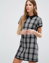 Wal G Check Shift Dress