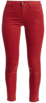 L'Agence Margot High-Rise Coated Ankle Skinny Jeans
