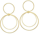 Lana Two-Tiered 14K Gold Flat Circle Earrings