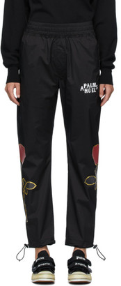 Palm Angels Black Rose Lounge Pants
