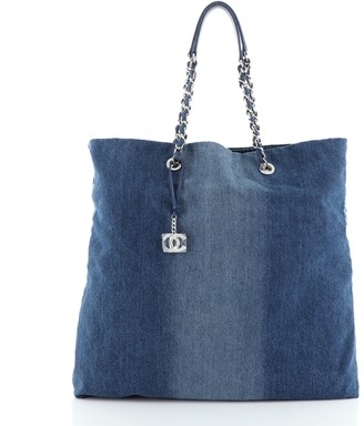 Chanel Open Shopping Tote Degrade Denim Large