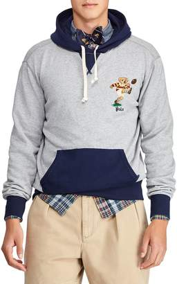 Polo Ralph Lauren Rugby Bear Cotton Blend Fleece Hoodie