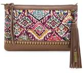 Sakroots Seni Leather Crossbody Clutch