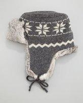 Crown Cap Fur-Lined Wool Aviator Hat
