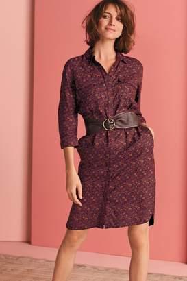 Next Womens Berry Shirt Dress - Purple