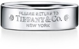 Tiffany & Co. Return to TiffanyTM narrow ring in sterling silver with diamonds