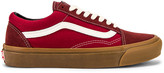 Vans OG Old Skool LX in Madder Brown & Jester Red | FWRD