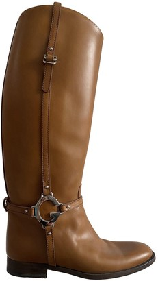 Gucci Camel Leather Boots