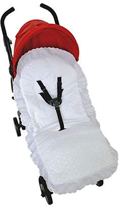 Maclaren Broderie Anglaise Seat Liner Cover Compatible with Buggy Pushchair - White