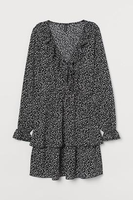 H&M Chiffon Dress - Black