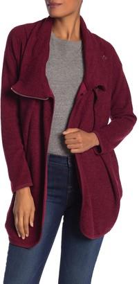 Papillon Zip Front Wrap Knit Jacket
