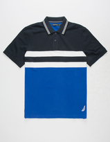 Nautica Striped Mens Polo Shirt